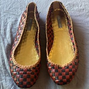 Prada Braided flats